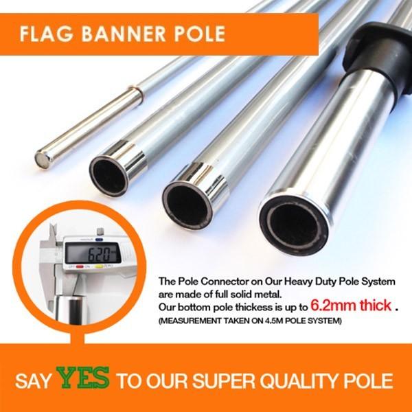 Teardrop Banner Flag Pole
