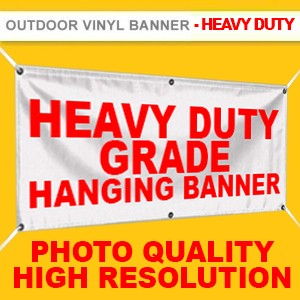 OUTDOOR  VINYL BANNER (HEAVY DUTY GRADE, HIGH RESOLUTION PRINTING)