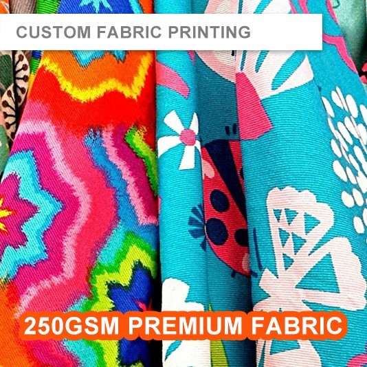 Fabric Printing - Single Side - 250gsm Premium Fabric (Raw Material 1.5m Wide)