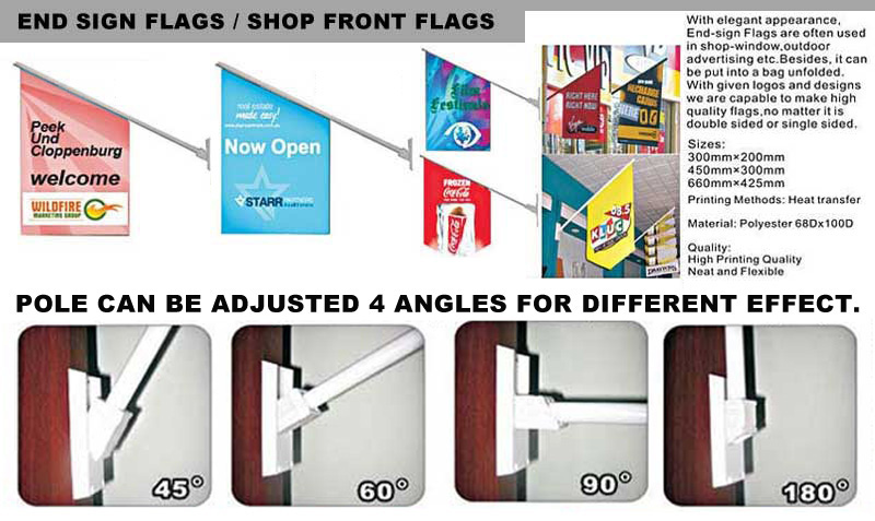 Eng Sign Flags, Shop Front Flags