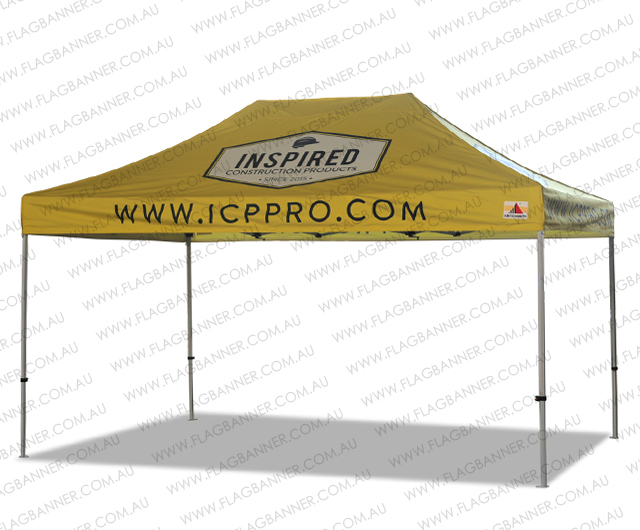 3m x 4.5m Custom Tent Printing 10 x 15