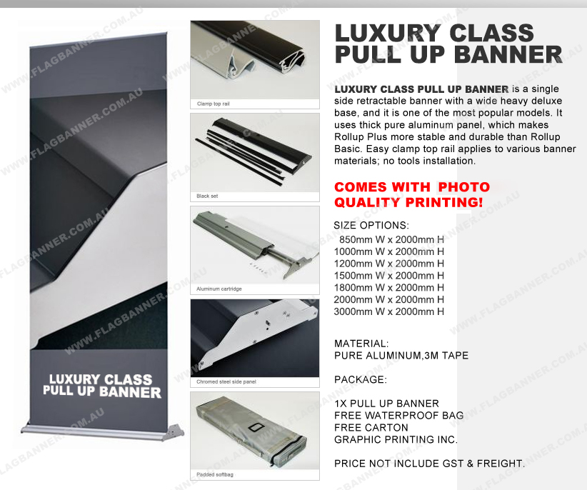 Luxury pull up banner