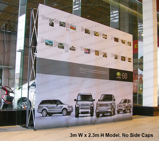 Pop up backdrop media wall 3m x 2.3m