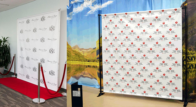 Universal Banner Fabric Backdrop Media Wall