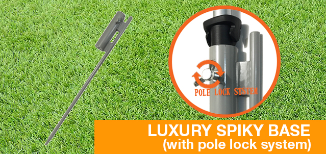 Pole Lock Spiky Base,Ground Spike,Ground Stake