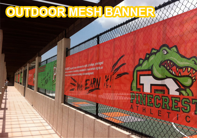 Outdoor Mesh Banner, fence banner, fence signage