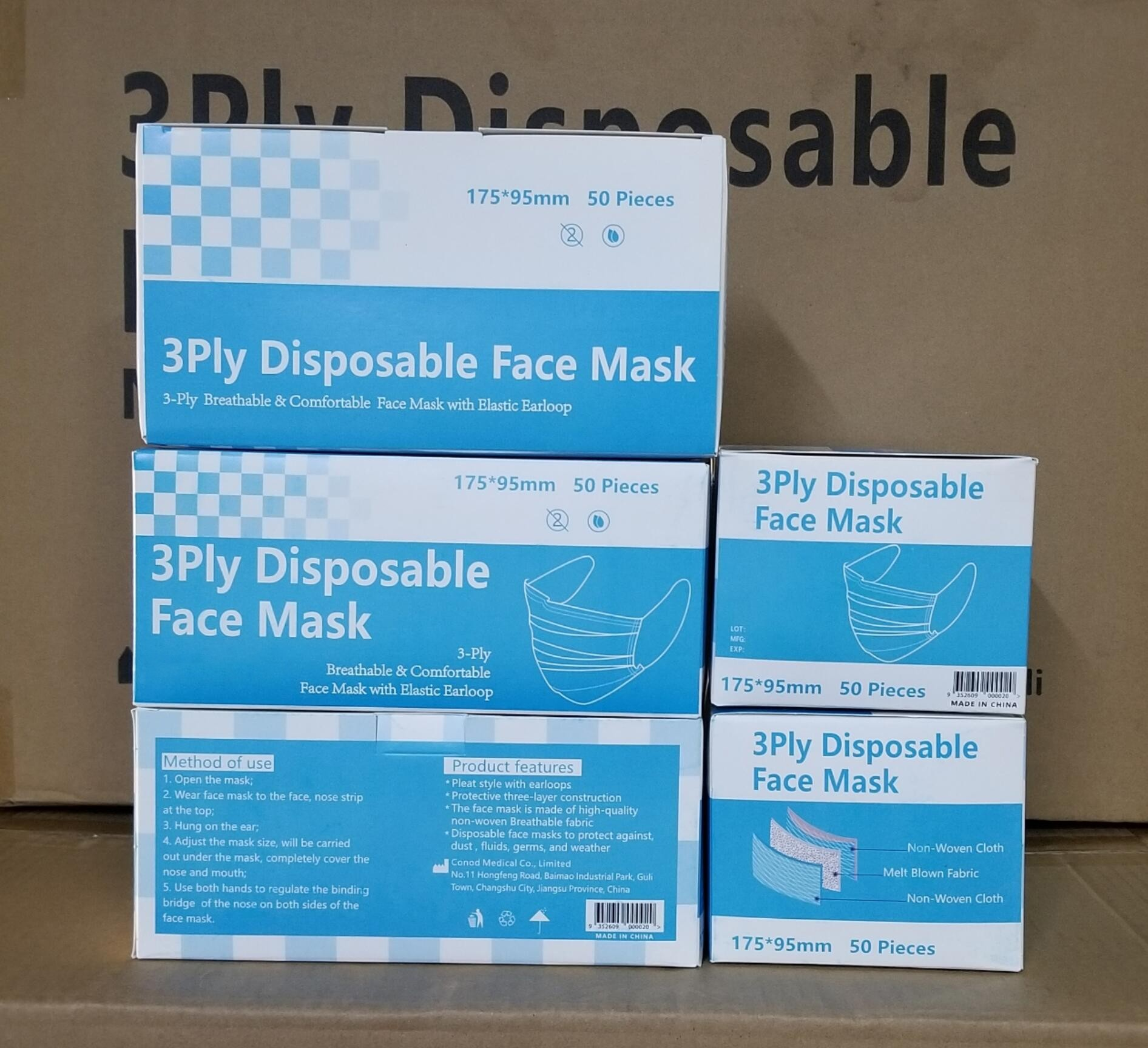 LEVEL 2 TYPE IIR Disposable Face Mask, Protective Face Mask Wholesale Supply