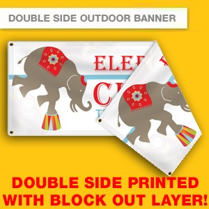 DOUBLE SIDE OUTDOOR VINYL BANNER (HIGH RESOLUTION PRINTING)