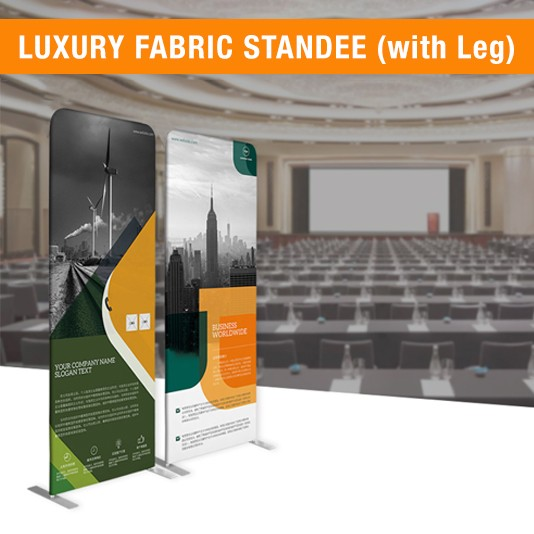 DOUBLE SIDE FABRIC STANDEE | FABRIC BANNER STAND | FABRIC DISPLAY (WITH LEG)