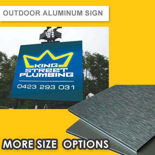 OUTDOOR ALUMINUM SIGN (3MM PANEL) - UV DIRECT PRINTED (2 YEARS+)