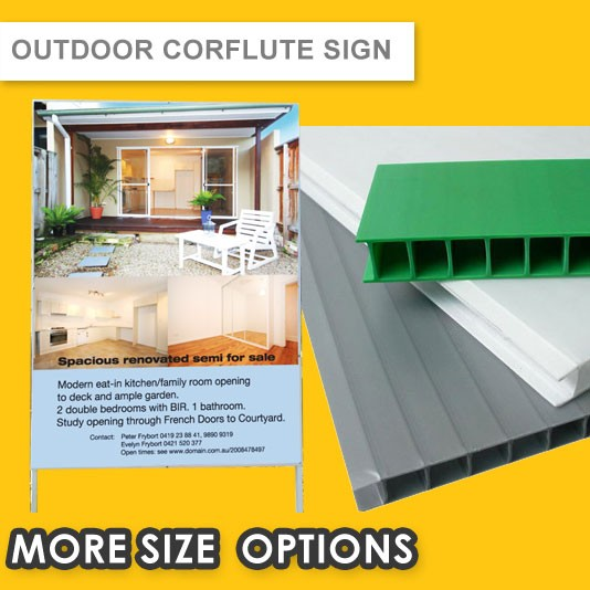 OUTDOOR CORFLUTE SIGN ( 5MM PANEL ) with LAMINATION PROTECTION