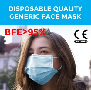 Disposable Face Mask,General Protective Purpose, BFE>95%