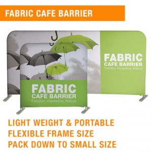 FABRIC BARRIER | CAFE BARRIER | PORTABLE BARRIER | CUSTOM CAFE BARRIER