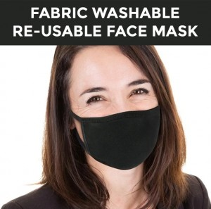 Black Fabric Face Mask Reusable Face Mask Washable Face Mask Cloth Face Mask