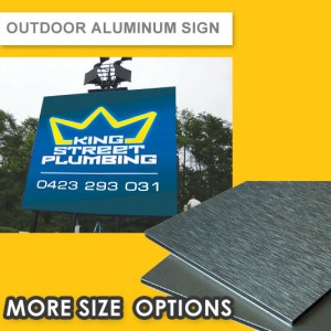 OUTDOOR ALUMINUM SIGN (3MM PANEL) - UV DIRECT PRINTED (2 YEARS)