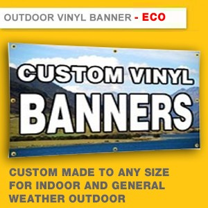 OUTDOOR VINYL BANNER - ECO - INDOOR AND GENERAL WEATHER OUTDOOR (HIGH RESOLUTION PRINTING, MAX SIZE 1.5M X 50M)