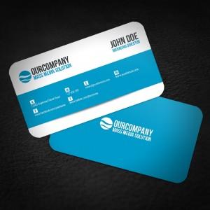 Round Corner BUSINESS CARD 350gsm