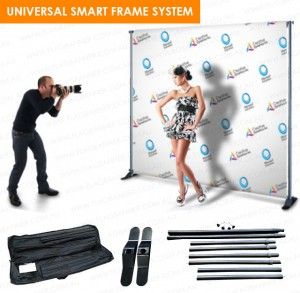 UNIVERSAL BANNER MEDIA WALL - DOUBLE SIDE PRINTED (VINYL OR FABRIC)