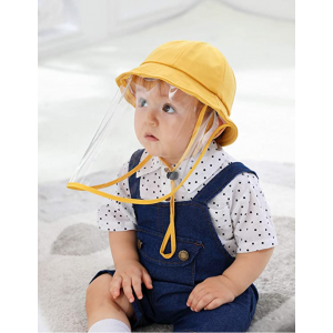 KIDS FABRIC HAT WITH PROTECTIVE FACE SHIELD