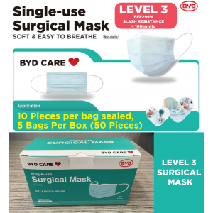 Disposable BYD LEVEL 3 Surgical Face Mask,BFE>99%