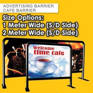 50mm STEEL FRAME CAFE BARRIER - CUSTOM BARRIERS  – EVENT BARRIER - TRAFFIC BARRIER