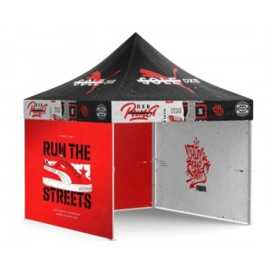 3m x 3m 40mm Wide Deluxe Heavy Duty Steel Frame Marquee with Full Canopy Full Color Printed | Custom Printed Gazebo Tent