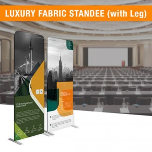 DOUBLE SIDE FABRIC STANDEE   FABRIC BANNER STAND   FABRIC DISPLAY (WITH LEG)