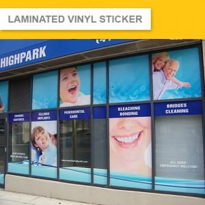 Laminated Vinyl Decal Sticker (Indoor & Outdoor)  3 Years