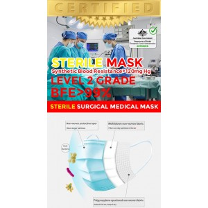 """Level 2 Surgical Mask """"STERILE"""" GRADE SURGICAL MASK (CE Certified) (ARTG LISTED)"""