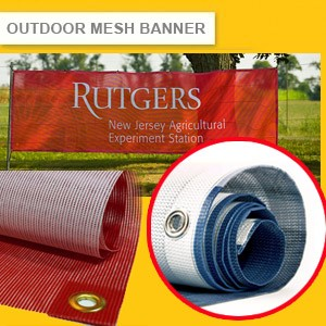 OUTDOOR MESH BANNER - HEAVY DUTY OUTDOOR GRADE (HIGH RESOLUTION PRINTING) MAX SIZE 1.5M X 50M