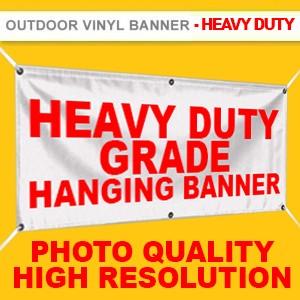 OUTDOOR  VINYL BANNER (HEAVY DUTY GRADE, HIGH RESOLUTION PRINTING) - MAX SIZE 1.5M X  50M