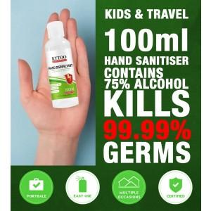 KIDS & TRAVEL PACK - 100ML KYTOO (UK BRAND) HAND SANITIZER (HAND SANITISER)  75% ALCOHOL WATER FREE