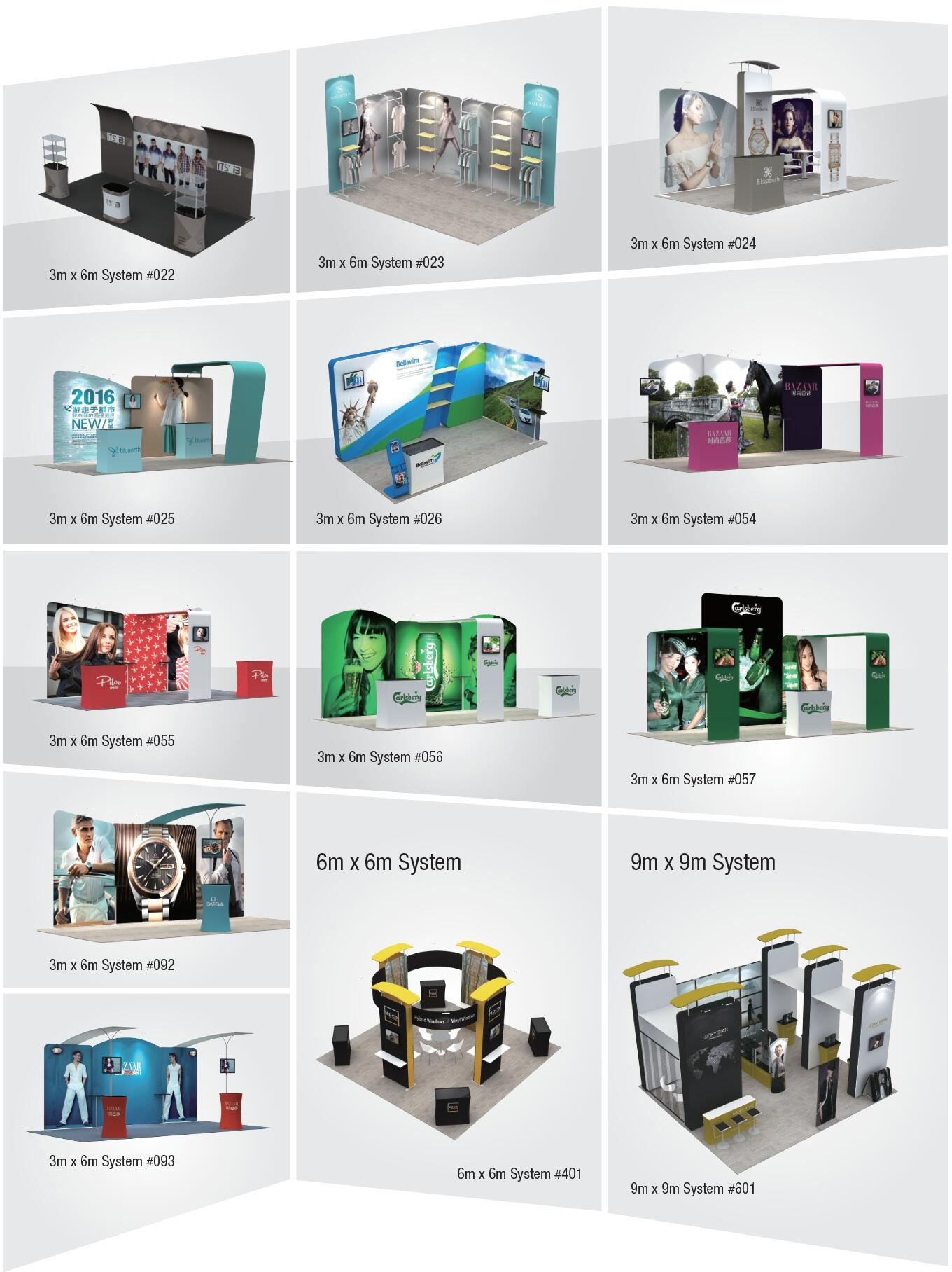 Trade Show Event Exhibition Display Booth System Media Wall