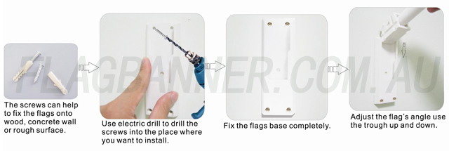 End Sign Flag Installation Instruction