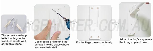 End Sign Flag Installation Instruction
