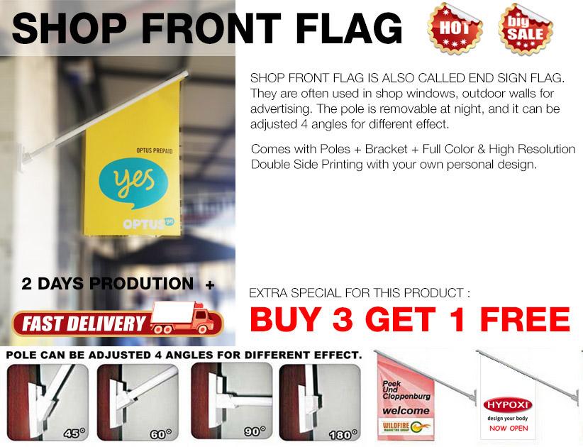 SHOP FRONT FLAG,END SIGN FLAG